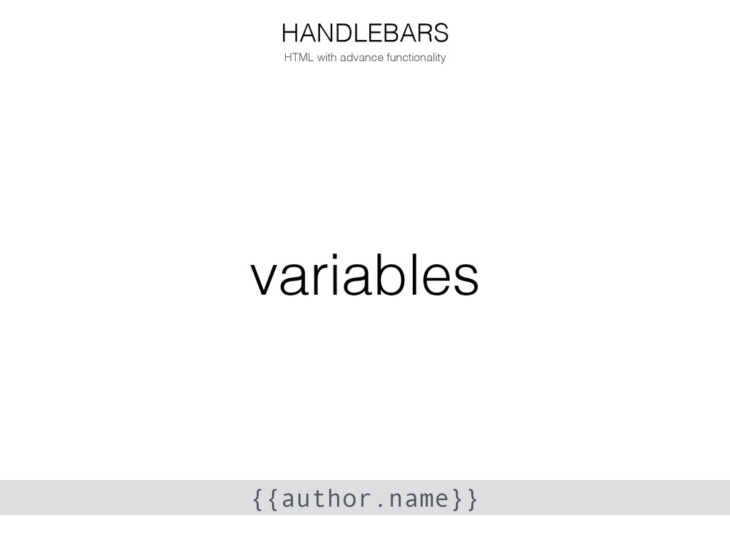 variables HANDLEBARS HTML with advance function...