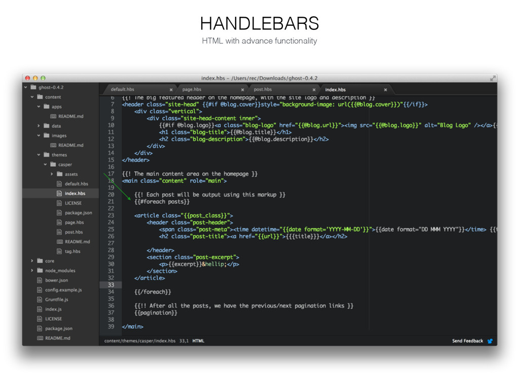 HANDLEBARS HTML with advance functionality