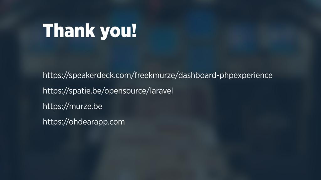 Thank you! https://speakerdeck.com/freekmurze/d...