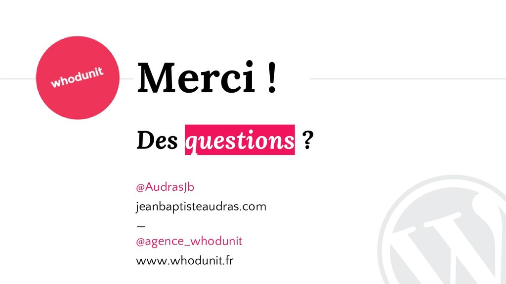 Des questions ? @AudrasJb jeanbaptisteaudras.co...