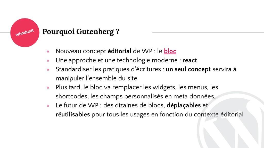 Pourquoi Gutenberg ? ◉ Nouveau concept éditoria...