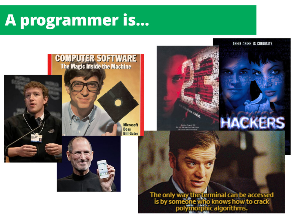 A programmer is…