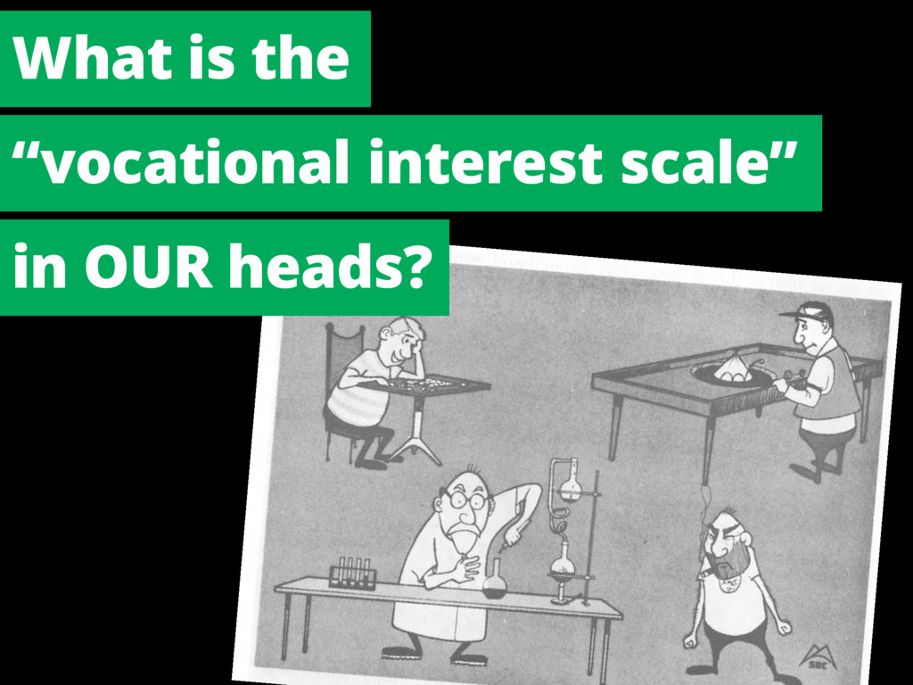 "What is the ""vocational interest scale"" in OUR ..."
