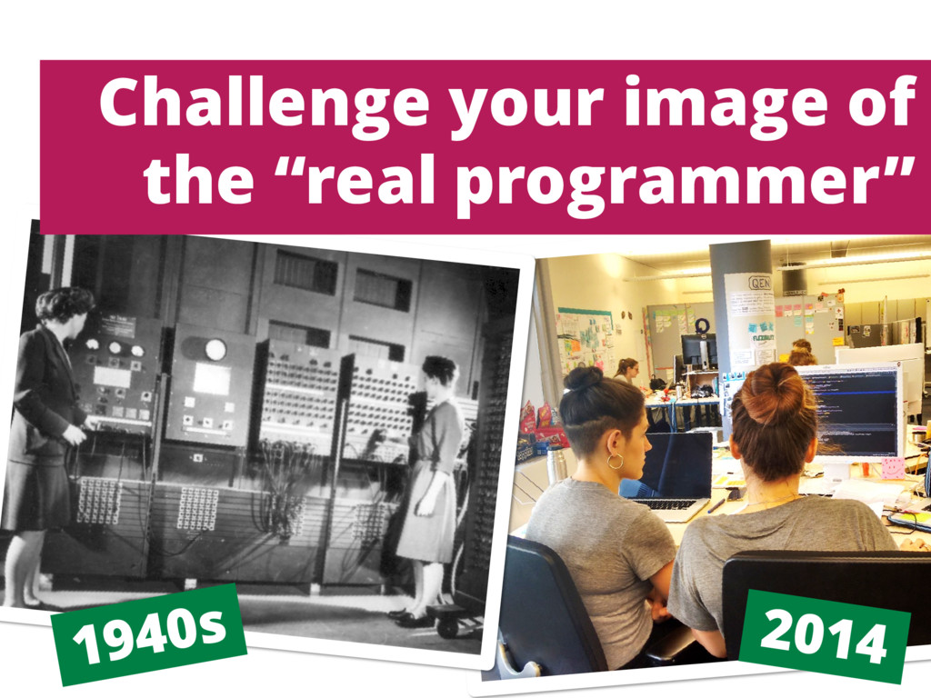 "Challenge your image of the ""real programmer"""