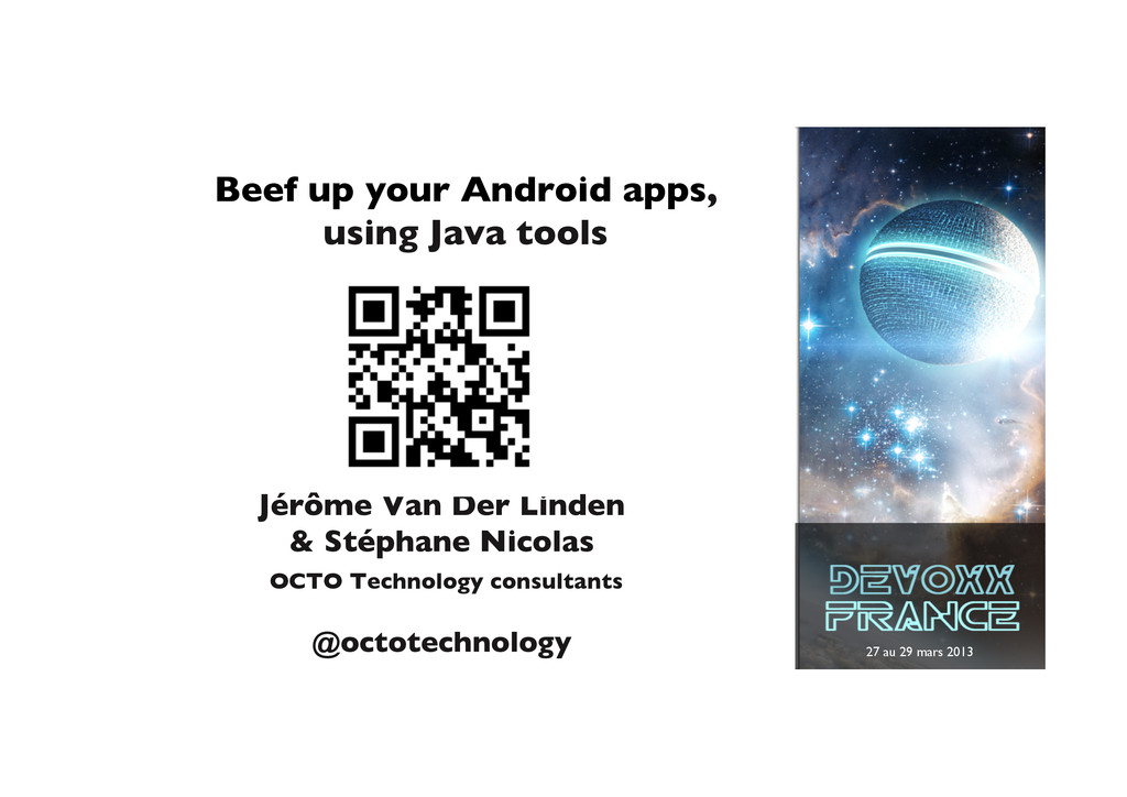 27 au 29 mars 2013	 