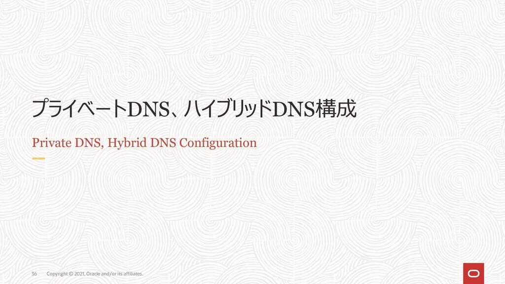 ハイブリッドDNS構成 ケース1 : オンプレ側からVCN内ホストの名前を解決 1. オンプレ...