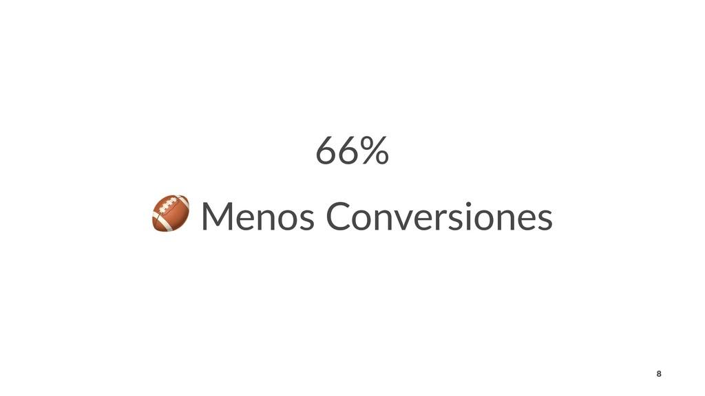 66% ! Menos Conversiones 8