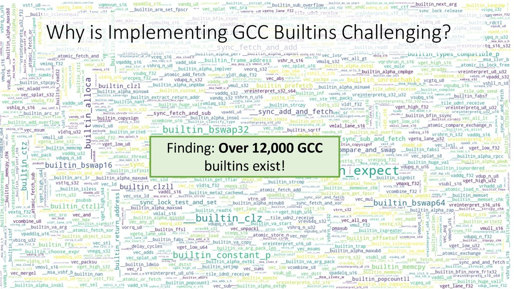 Why is Implementing GCC Builtins Challenging? F...