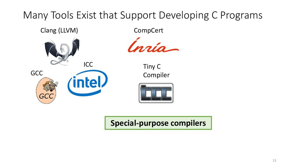 Many Tools Exist that Support Developing C Prog...