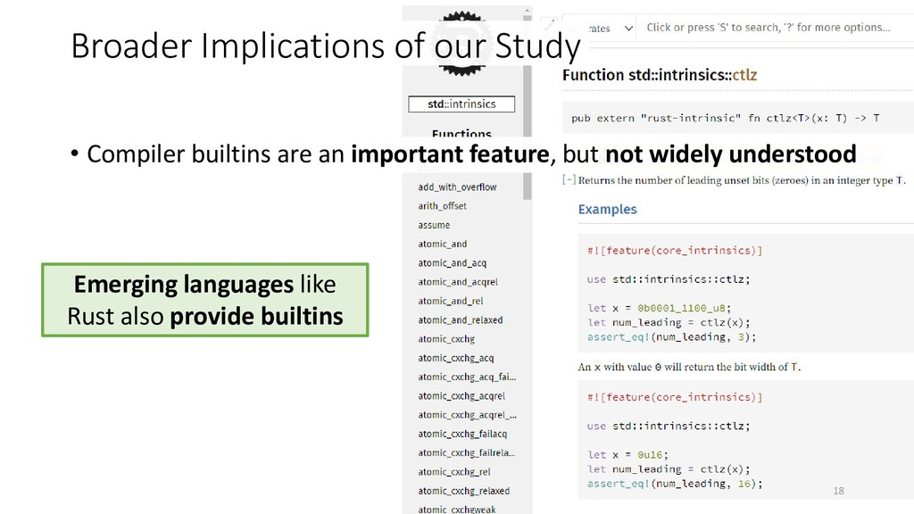 18 • Compiler builtins are an important feature...