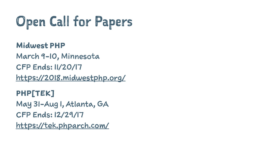 Open Call for Papers Midwest PHP March 9-10, Mi...