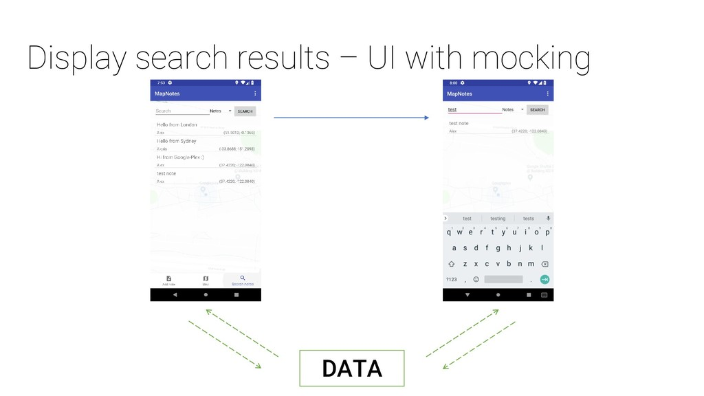 Display search results – UI with mocking DATA