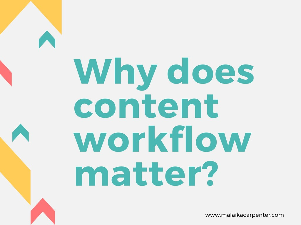 Why does content workflow matter? www.malaikaca...
