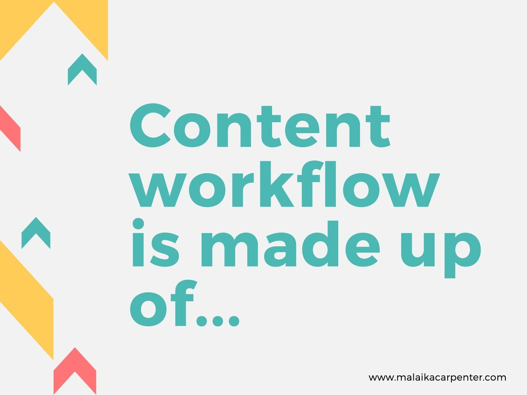 Content workflow is made up of... www.malaikaca...
