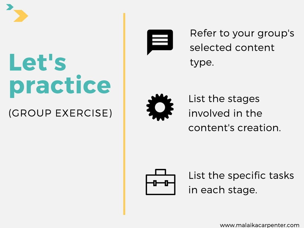Refer to your group's selected content type. Le...