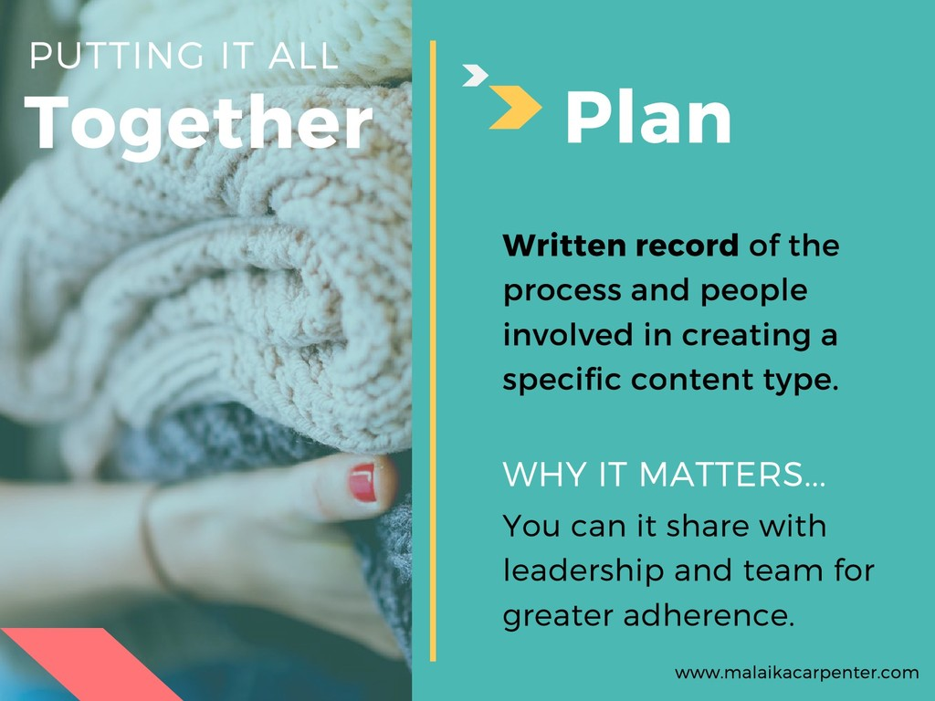 Together PUTTING IT ALL Plan You can it share w...