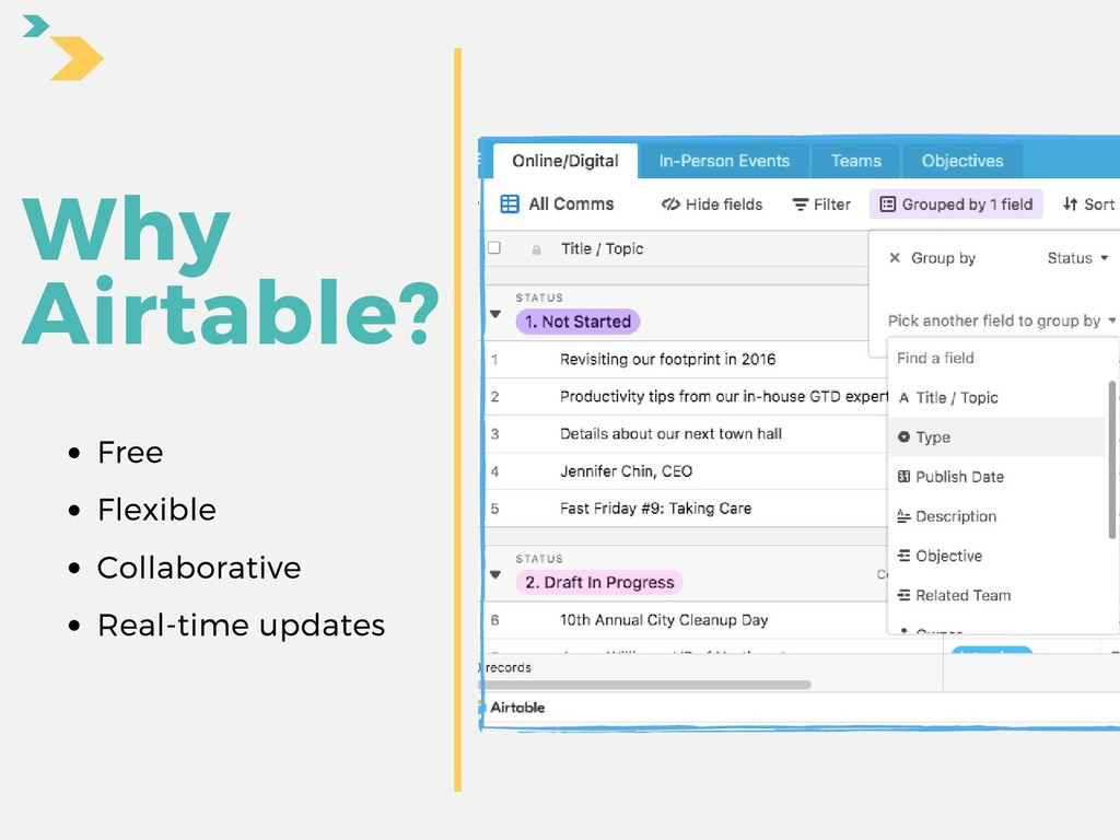 Why Airtable? Free Flexible Collaborative Real-...