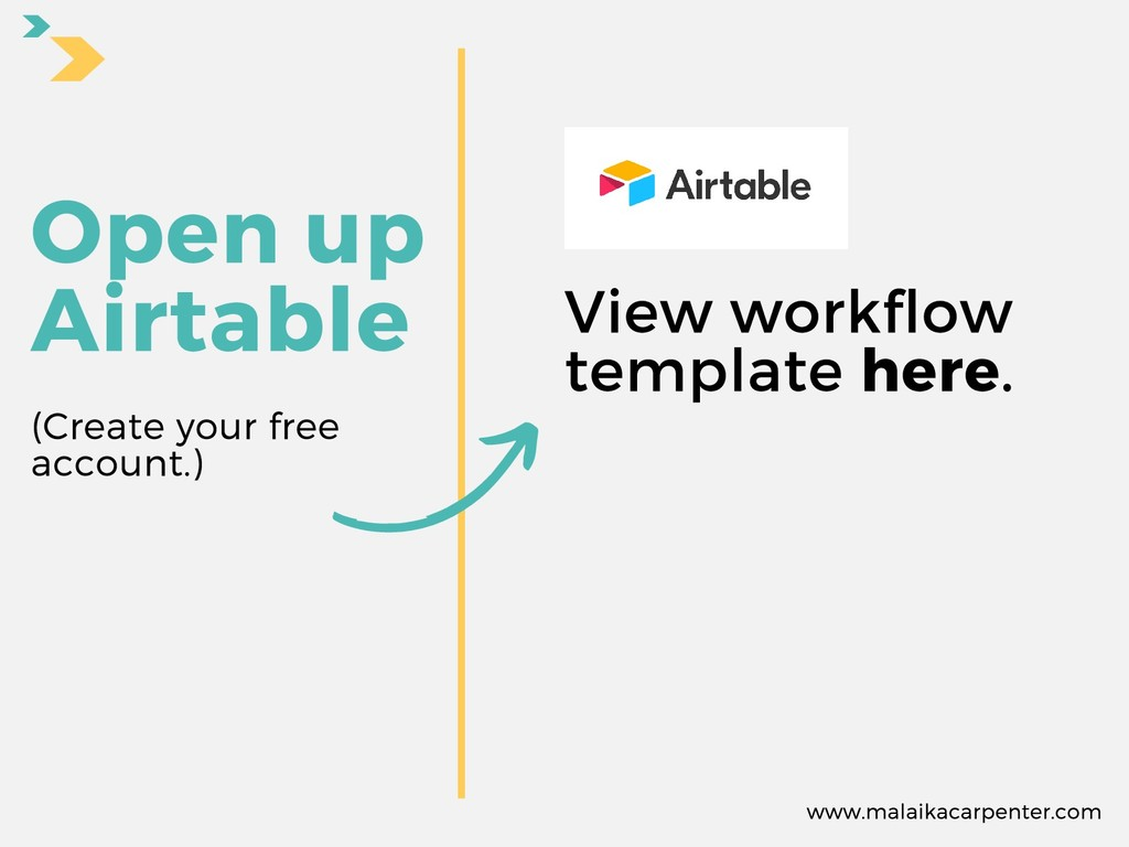 Open up Airtable View workflow template here. w...