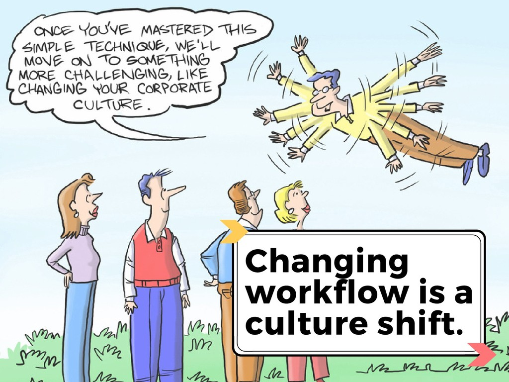 Changing workflow is a culture shift.