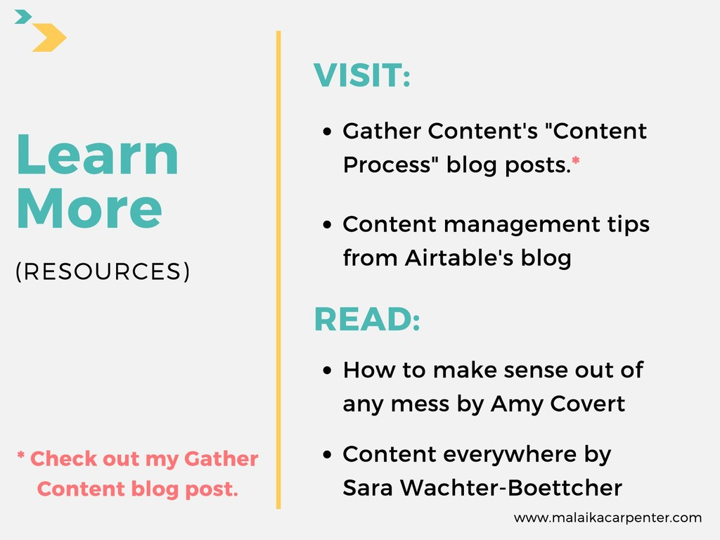 "Learn More VISIT: Gather Content's ""Content Pro..."