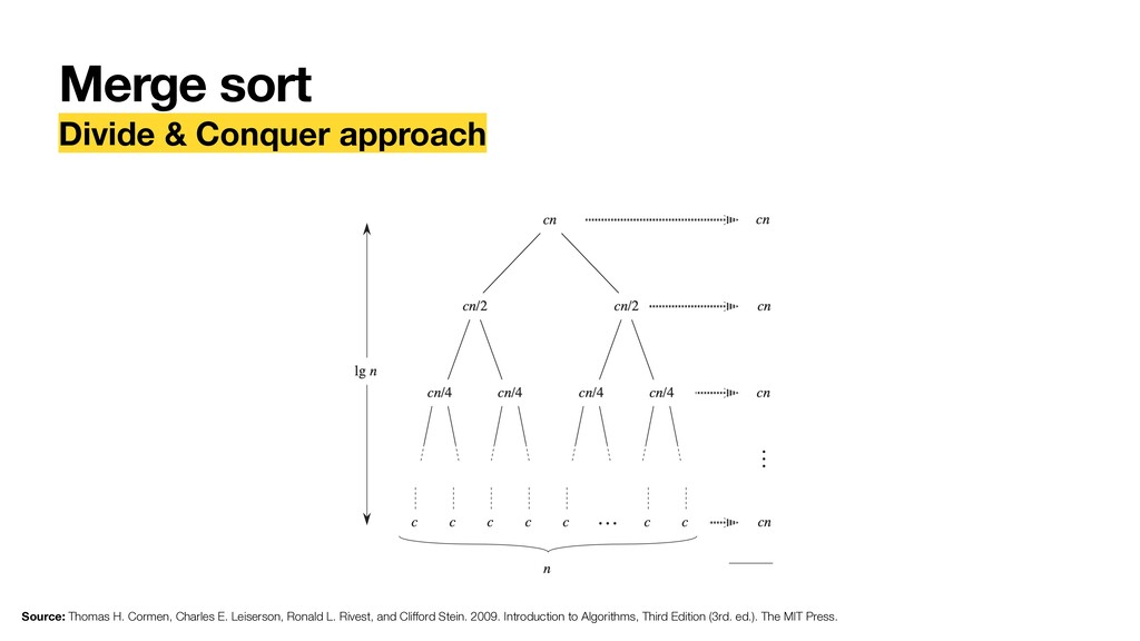 Merge sort Divide & Conquer approach Source: Th...