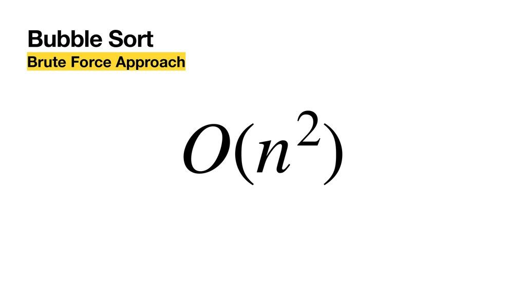 Bubble Sort Brute Force Approach O(n2)