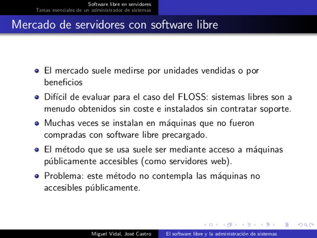 Software libre en servidores Tareas esenciales ...