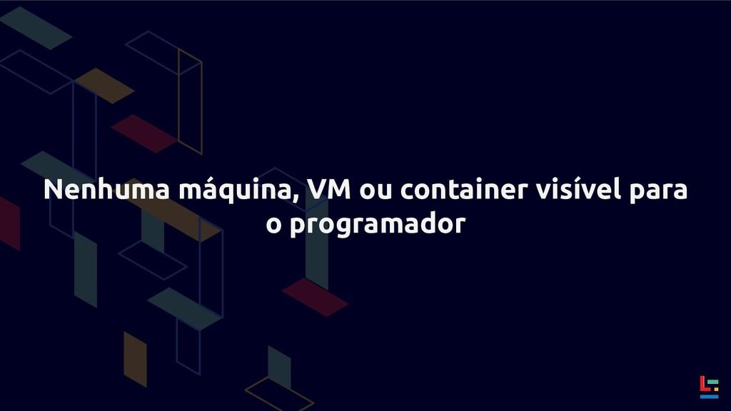 Nenhuma máquina, VM ou container visível para o...