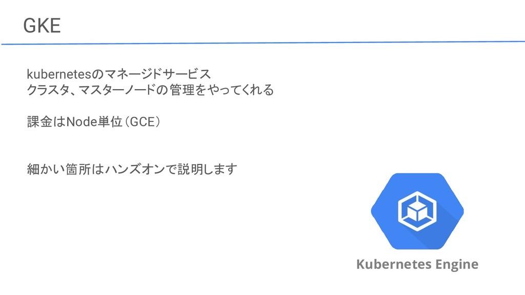 GKE Kubernetes Engine kubernetesのマネージドサービス クラスタ...
