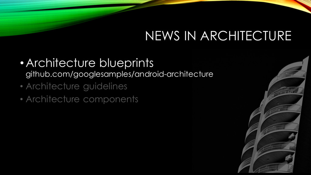 NEWS IN ARCHITECTURE •Architecture blueprints g...