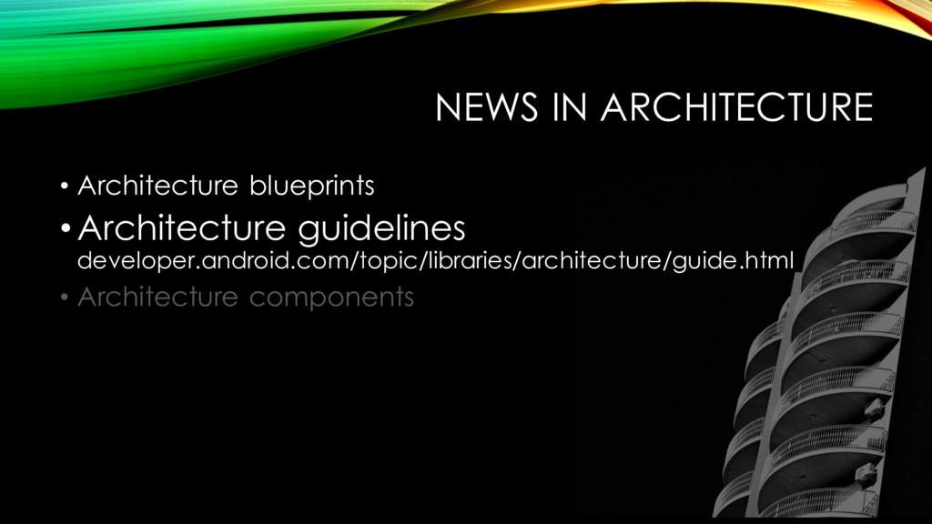 NEWS IN ARCHITECTURE • Architecture blueprints ...