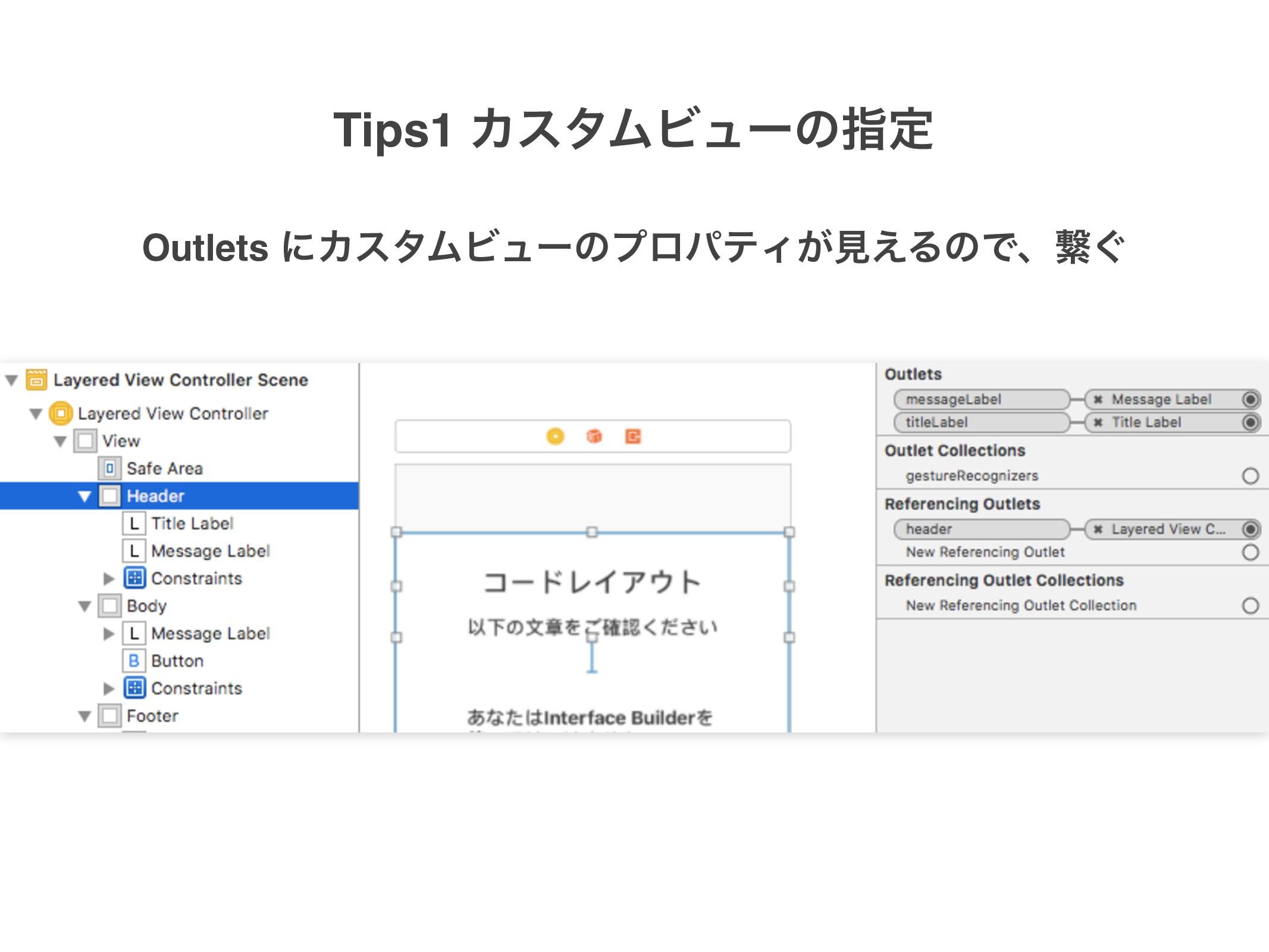 Outlets ʹΧελϜϏϡʔͷϓϩύςΟ͕ݟ͑ΔͷͰɺܨ͙ Tips1 ΧελϜϏϡʔͷࢦఆ