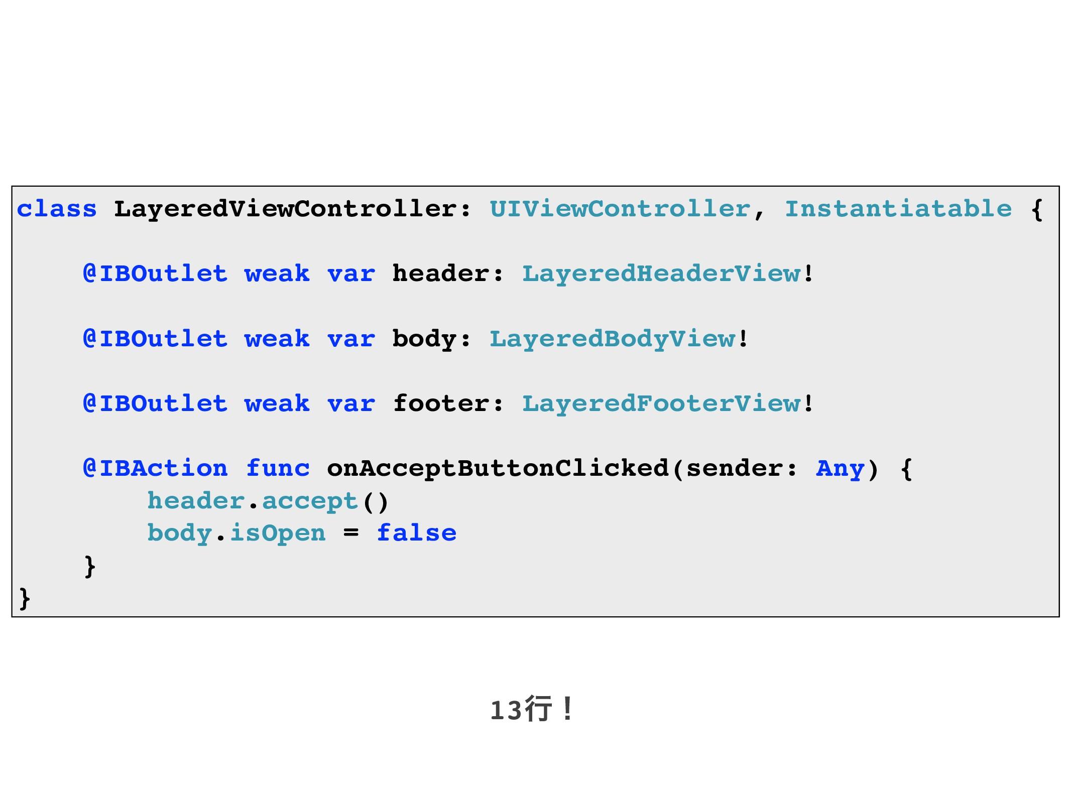 class LayeredViewController: UIViewController, ...