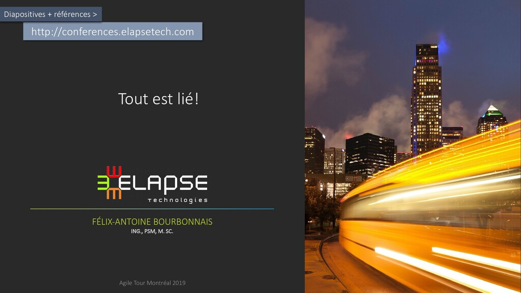 http://conferences.elapsetech.com Diapositives ...