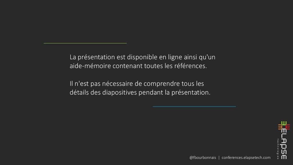 @fbourbonnais | conferences.elapsetech.com La p...
