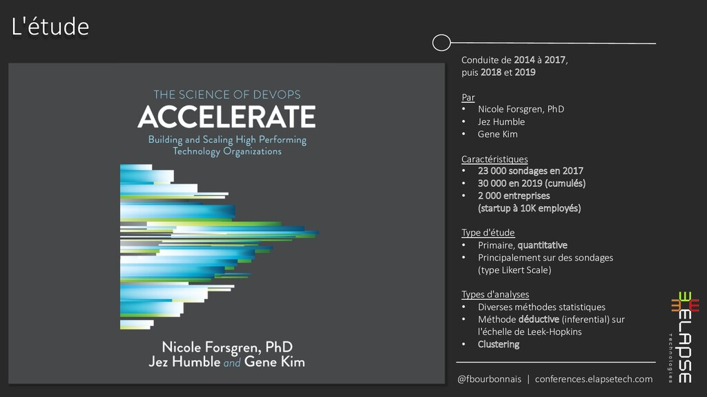 @fbourbonnais | conferences.elapsetech.com L'ét...