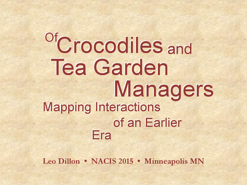 Tea Garden Managers Mapping Interactions of an ...