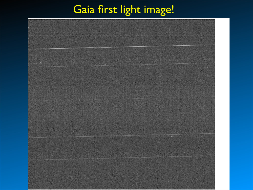 Gaia first light image!