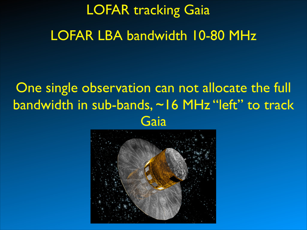 LOFAR tracking Gaia One single observation can ...