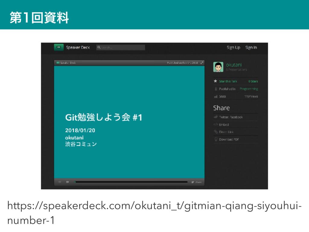 ୈճྉ https://speakerdeck.com/okutani_t/gitmian...