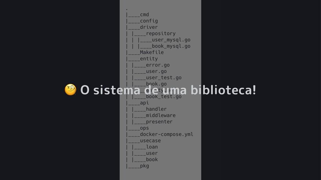 ! O sistema de uma biblioteca!