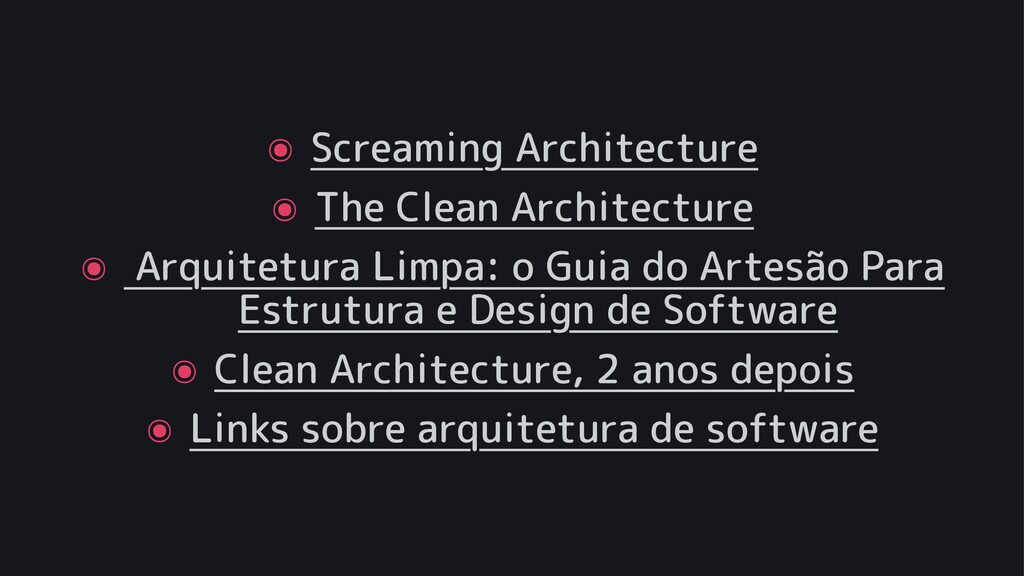 ๏ Screaming Architecture ๏ The Clean Architectu...