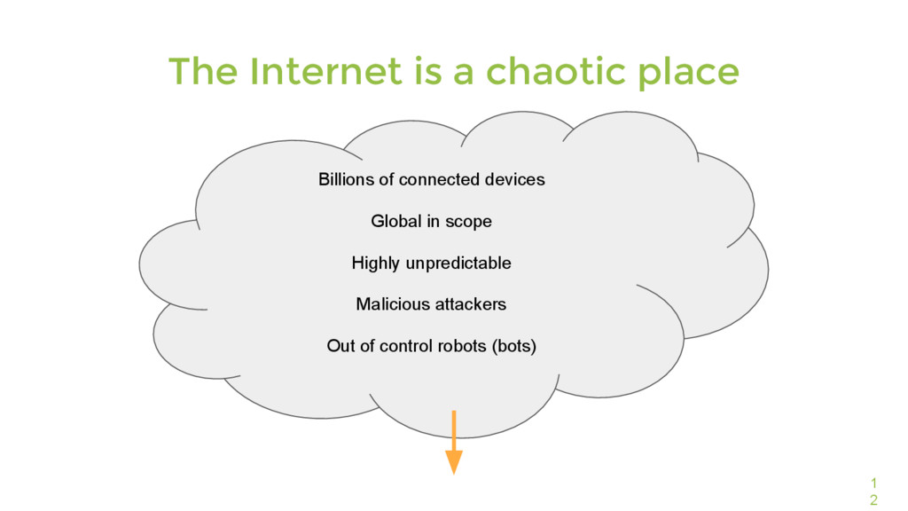 1 2 The Internet is a chaotic place Billions of...