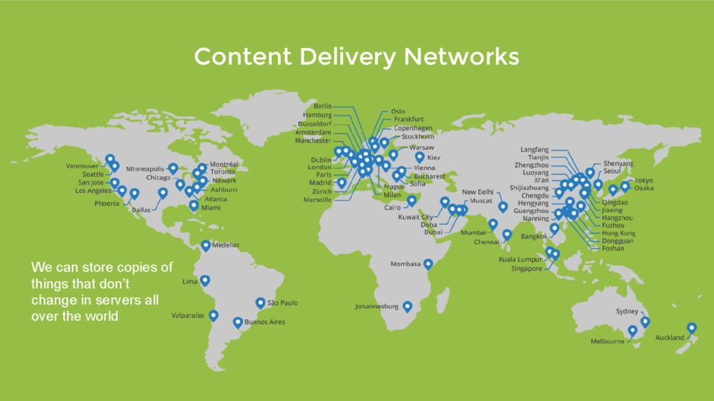 Content Delivery Networks We can store copies o...