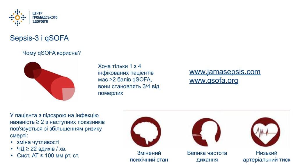 Sepsis-3 і qSOFA Чому qSOFA корисна? Хоча тільк...