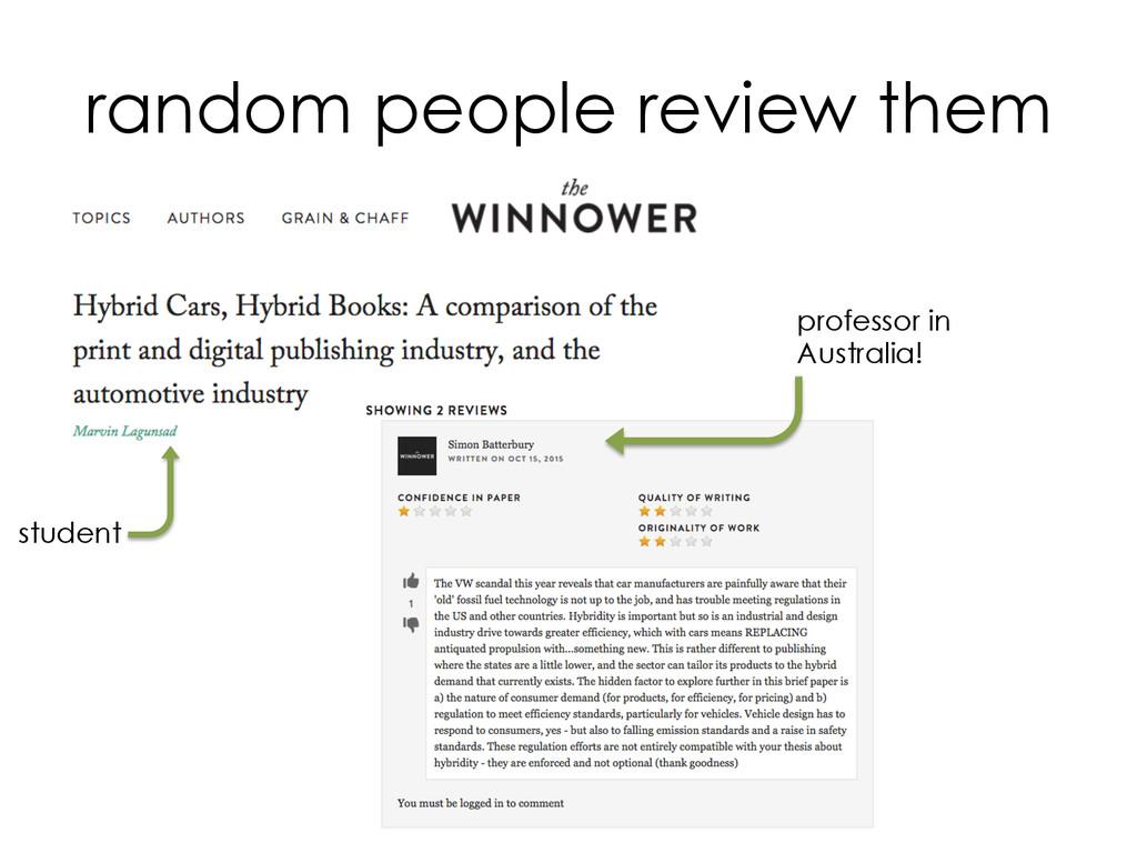 random people review them professor in Australi...