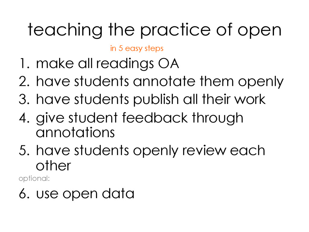 teaching the practice of open 1. make all read...