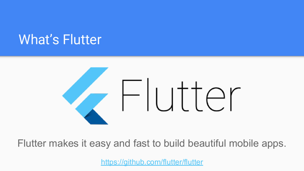 What's Flutter Flutter makes it easy and fast t...