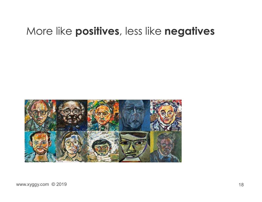 18 More like positives, less like negatives www...
