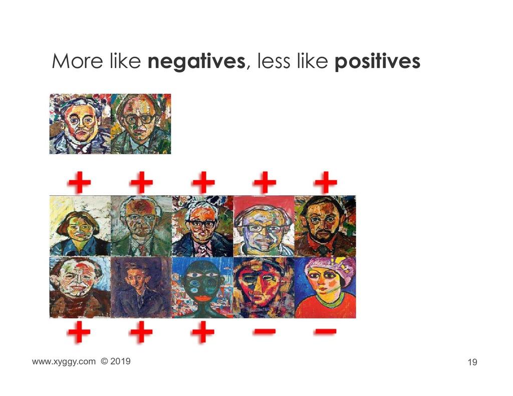 19 More like negatives, less like positives www...